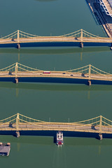 A boat from the Gateway Clipper passes under the Clemente Bridge in Pittsburgh (Dave DiCello) Tags: pittsburgh aerials pittsburghskyline downtownpittsburgh davedicello imagesofpittsburgh viewsofpittsburgh pittsburghprints pittsburghskylineimages aerialpittsburgh pittsburghfromtheair aerialviewsofpittsburgh