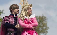 Aurora & Phillip (CptSpeedy) Tags: walt disney world magickingdom princess prince princesses storybook performer outdoors dreams dreamalong mickeymouse castle happy couples