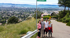 Panoramic - No Parking Any Time (weber_sd) Tags: california landscape berkeley us unitedstates hike hills goldengatebridge baybridge bayarea eastbay 2016