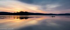 Good Morning (maureen.elliott) Tags: lake water sunrise kayak skies colours ngc canoe algonquinpark lakeoftworivers