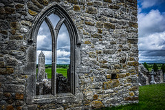 McCarthy's Round Tower (Ails N hgeartaigh) Tags: ireland windows tower church stone wall architecture europe arch exterior religion monastery round monastic offaly 2016