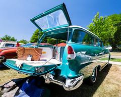 1955 Chevrolet 210 wagon (hz536n/George Thomas) Tags: summer copyright chevrolet canon wagon michigan chevy canon5d nik flint carshow stationwagon 2016 ef1740mmf4lusm cs5 sloanmuseum sloanmuseumautofair