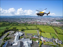 Me watching them watching me..maybe not ;-) (teedee.) Tags: city composite photoshop landscape image fake police belfast hills helicopter castlereagh psni dji