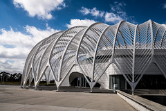 Innovation, Science, and Technology building in Florida Polytechnic Univeristy, Lakeland FL, designed by Santiago Calatrava  DSC07927 (nianci pan) Tags: winter shadow sky cloud abstract geometric architecture modern design pattern florida geometry contemporary sony line pan minimalism curve minimalist santiagocalatrava lakelandflorida sonyalphadslr nianci sonyphotographing archistract floridapolytechnicuniveristy innovationscienceandtechnologybuilding