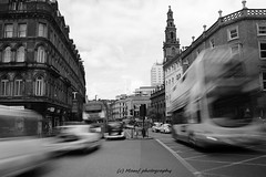 Traffic on Duncan street in Leeds. (MAMF photography.) Tags: road street city uk greatbritain england blackandwhite bw bus monochrome beauty town photo blackwhite google nikon flickr noir traffic image noiretblanc zwartwit unitedkingdom britain yorkshire united north leeds gb zwart pretoebranco schwarz biancoenero westyorkshire onthestreet eastyorkshire greatphoto googleimages northernengland enblancoynegro ls1 zwartenwit mamf inbiancoenero leedscitycentre schwarzundweis variablendfilter nikond7100 mamfphotography