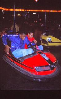West Germany    -    HerbornSeelbach    -  Kirmes    -    Fun in bumper cars    -     September 1989