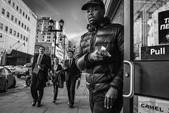 Market East, 2016 (Alan Barr) Tags: street people blackandwhite bw philadelphia monochrome mono blackwhite candid streetphotography sp streetphoto gr ricoh marketeast 2016 marketstreeteast