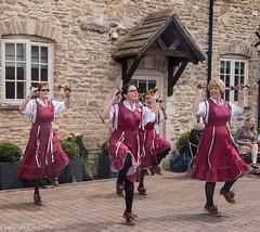 Chinewrde Morris (kimbenson45) Tags: chinewrdemorris cotswolds kirtlingtonlambale morrisdancers black burgundy clog clogging dancers dancing dresses maroon motion movement people pub red ribbons smiling women