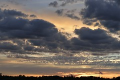 OH! Canada! (Roger Daigle) Tags: sunset clouds nikon flag canadian