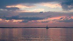 Coming home late - Sunset Series I (christophbieniek (catching up)) Tags: blue sunset sea sky sailing sonnenuntergang sony himmel baltic ostsee niendorf rx100 timmendorfstrand