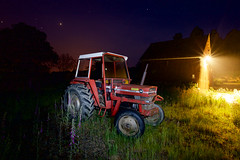 Tractor (Martin Cragg) Tags: tractor night stars ferguson massey masseyferguson