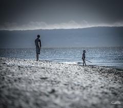 Happy time  (T.ye) Tags: street shot portrait landscape beach sea blackandwhite monochrome focusing father son childhood       outside ourdoor