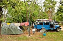 Many Spanish cities have city campground, which means that you can leave your vehicle on the campground and go to the city centre by city bus or on your bicycle [Sevilla / Spain] (babakotoeu) Tags: car jeep offroad 4x4 toyota land series 40 landcruiser cruiser troopy bj40 40series bj45