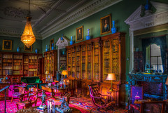 The Library (Kevin From Manchester) Tags: pictures england house lights cheshire library room books trust lamps hdr 2015 tattonhall kevinwalker