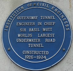 [32051] Liverpool : Mersey Tunnel (Budby) Tags: road heritage history plaque liverpool river tunnel blueplaque 20thcentury information mersey merseyside