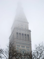Dissolve (adrianmojica) Tags: nyc newyorkcity ny tower clock weather fog canon foggy clocktower madisonsquarepark lowcontrast flatirondistrict canonpowershots90 canons90