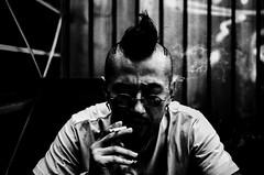 ((Jt)) Tags: portrait blackandwhite film monochrome smoke smoking korean tattooartist ricohgr1v pushedfilm documentaryphotography jtinseoul