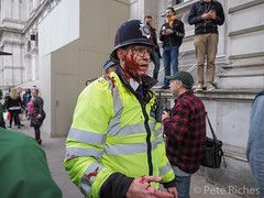 05 APR91174  #GetTheToriesOut protest_ Paint bomb.jpg (pete riches) Tags: signs london students riot homeless protest police parliament flags demonstration kettle masks gentrification banners whitehall protesters flares demonstrators slogans placards anarchists riotpolice downingstreet homelessness tsg metpolice austerity budgetcuts blackbloc housingbenefit socialcleansing territorialsupportgroup publicdisorder fuckthetories olsx antitory publicspendingcuts antiausterity welfarecuts bedroomtax ge2015 toriesoutnow redandblackrevs