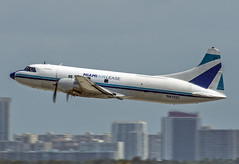 N41527 (robertjamesstarling) Tags: old miami air great engine sound timer radial lease freighter n41527