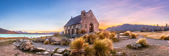 Tekapo Sunrise (Matthew Post) Tags: travel newzealand christchurch panorama church sunrise canon landscape post matthew canterbury southisland laketekapo churchofthegoodshepherd tamron tekapo 6d 2015 2875mm southernlakes matthewpost lightroom6
