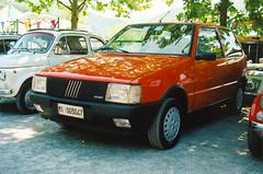 Fiat Uno 70 (1987) (maximilian91) Tags: italy cars film 35mm italia fiat liguria genoa genova analogue fiatuno struppa oldcarsvintage ektar100 fiatuno70 carsitalian