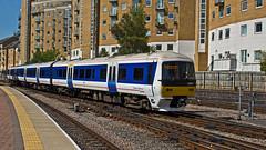 165036 (JOHN BRACE) Tags: york blue station trains class seen 1990 built chiltern marylebone livery 165 dmu brel 165036