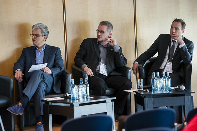 Rick Batelaan, Laszlo Kerenyi and Rémi Lebeda on the panel