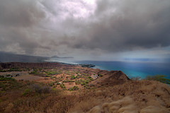 Koko Head Rain Squall (iecharleton) Tags: rain hawaii oahu diamondhead rainstorm honolulu kokohead squal d3300
