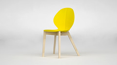 Basil Chair. (TheDanEd) Tags: wood color yellow design madera chair furniture amarillo silla calligaris