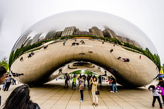 Heavy fog moves into Chicago today (TAC.Photography) Tags: fog cloudgate downtownchicago thebeam fogreflection