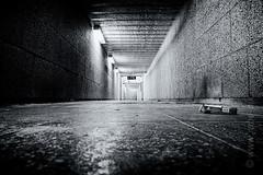 Platform 7-9 (rabe-pix) Tags: bw monochrome dark deutschland bahnhof nrw sw fujifilm sauerland unterfhrung