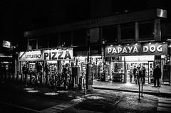 culinary nights (thebrooklyndodger) Tags: street city nyc newyorkcity people urban blackandwhite white newyork black film night manhattan streetphotography streetscene midtown papayaking filmphotography peopleinthecity handheldnightshot newyorkphotography newyorkshotbynewyorkers