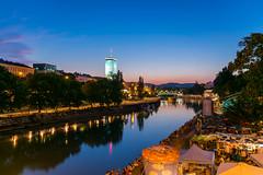 Danube Canal (_gate_) Tags: vienna wien travel blue sunset people sun beach water night river austria sterreich nikon wasser europa europe sonnenuntergang tel aviv sigma down hour kanal flex 1020mm fluss danube donau blaue canel donaukanal treiben stunde d5300
