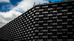 City (Jacadit) Tags: city sky black monochrome lines architecture canon grey perspective lightroom
