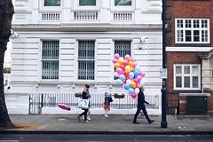 Up ! (geoffroy C) Tags: street party colour building architecture kids happy photography colours fuji play outdoor couleurs ballon balloon perspective x series fujifilm rue enfant extrieur couleur joie batiment jeux jouer x100 x100t