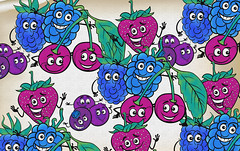 cartoon berry fruits for coloring book (fatimadesigns88) Tags: coloring book page berry strawberry raspberry blackberry blueberry cherry fruit cartoon illustration character comic funny happy cheerful mascot coloringbook blackandwhite black white food juicy ripe vegetarian vitamins fresh freshness health diet drawing children education game play application graphic design vector object group set collection healthy sweet nature berryfruit