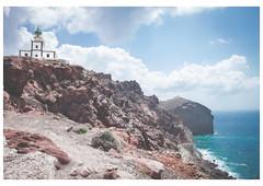 Santorini Island, Greece - ,  (Patsnik) Tags: santorini lighthouse daylight rocks light house sky blue borders border ship sea solitude outdoor landscape architecture tower photo