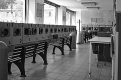Launderette (redy1966) Tags: vienna wien bw monochrome self austria service waschsalon bnw launderette oesterreich 2016 guessedvienna