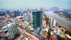 Skyscrapers of Ho Chi Minh City (tj.blackwell) Tags: vietnam saigon hochiminhcity skyline cityscape urban fromabove skyscraper fareast high sky summer travel tourism world sony a7 a7ii 2016 wow modern life buildings architecture
