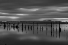 Timber Ponds, Firth of Clyde (stephenbreslin1) Tags: sunset seascape river scotland clyde blackwhite long exposure timber glasgow smooth ponds