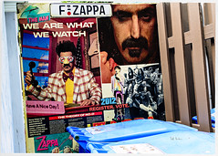 We Are What We Watch (swanksalot) Tags: frankzappa garbage alley shrine recycling dumpster chicago logansquare zappa haveaniceday registertovote 2012 wearewhatwewatch nod theman