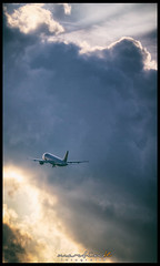 In the air (Krueger_Martin) Tags: hdr photomatix air sky himmel wolken clouds berlin tegel flughafen airport flugzeug plane yellow gelb blau blue light licht lights sonne sun festbrennweite primelense 135mm canoneos5dmarkii canoneos5dmark2 canonef135mmf2l sigma telekonverter