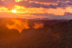Smoky Sunset (photosbydmitriy) Tags: horizon trees landscape sunset haze smoke mountains sky greatsmokymountains canon dusk 6d clouds floyd virginia unitedstates us
