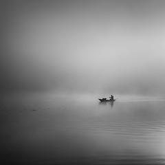 Fisherman (Jaques10000) Tags: nikon d5100 semlin havelland landscape monochrome blackwhite fisherman seascape
