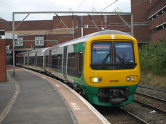 London Midland Class 323 323207 departs from Walsall (Oz_97) Tags: walsall londonmidland 323207