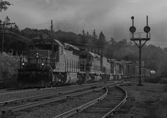 Blacked Out at Mt Jewett (Joseph Bishop) Tags: wcor 301 emd sd402 bprr buffalopittsburghrailway mtjewett trains train track tracks railfan railroad railway rail rlhh signals