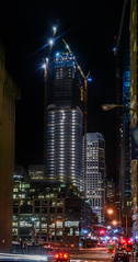 quarter rising (pbo31) Tags: california nikon d810 october fall 2016 bayarea night dark black boury pbo31 color sanfrancisco lightstream motion motionblur salesforce construction tower financialdistrictsouth crane build architecture city skyline urban panoramic large stitched panorama rinconhill over