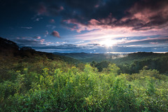 Somewhere in Virginia (photosbydmitriy) Tags: view 6d brp landscape sunset bluesky greatsmokymountains shrubbery blueridgeparkway sky green canon virginia trees clouds floyd unitedstates us