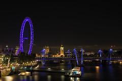 London Eye, Big Ben and Houses of Parliament (Yooch) Tags: westminster london uk londoneye bigben landmark clocktower building cityscape bridge pier river riverthames thames southbank lights illumination centrallondon vibrant colourful colorful