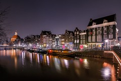 Untitled (karinavera) Tags: travel nikond5300 colors urban street amsterdam longexposure canals night cityscape city